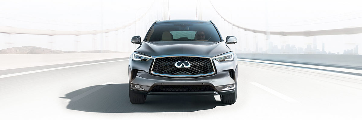 THE ALL-NEW 2019 QX50 front on a bridge