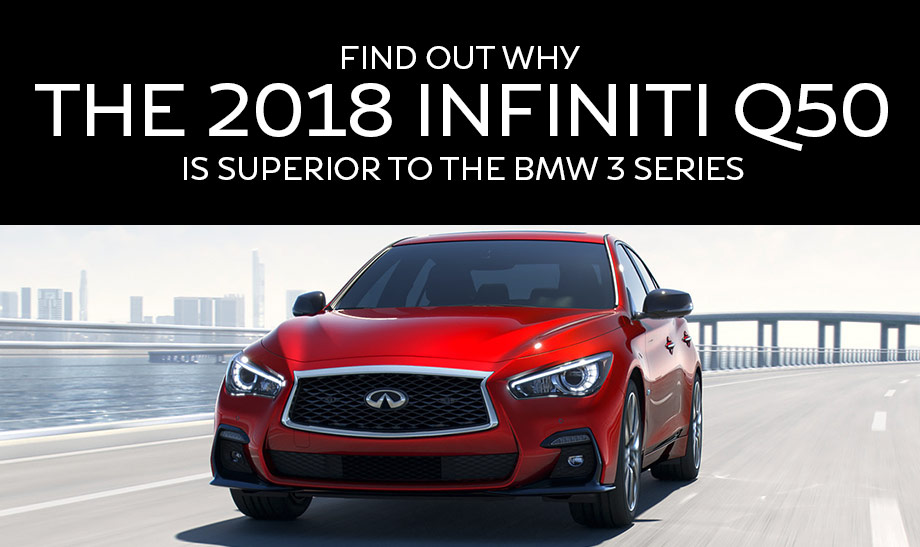 2018 INFINITI Q50 RED SPORT 400 Sedan Exterior/Front profile in Dynamic Sunstone Red, highlighting Active Lane Control technology
