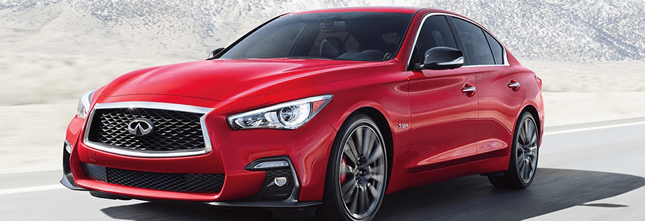 2018 INFINITI Q50 sedan equipped with forward emergency braking