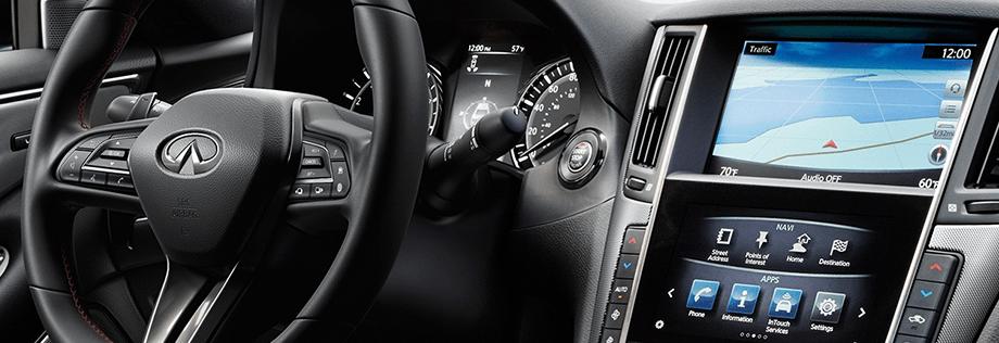 2018 INFINITI Q50 RED SPORT 400 Sedan Design Package Interior Front cockpit