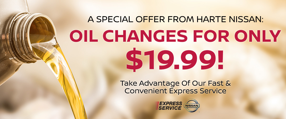 A Special Offer From Harte Nissan: Oil Changes For Only $14.95!