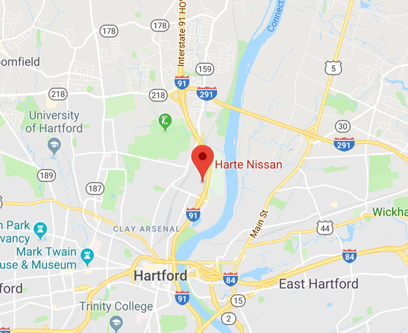 Directions to Harte Nissan in Hartford, CT