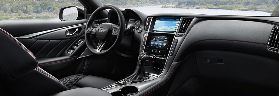 2018 INFINITI Q50 RED SPORT 400 Sedan Design Package Interior Front cockpit