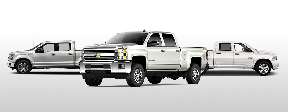 2016 Chevy Silverado, Ford F-150 and Ram 1500