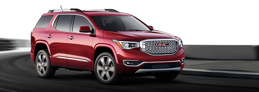 2018 GMC Acadia Denali Exterior in Crimson Red Tintcoat