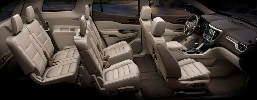 2018 GMC Acadia Denali Full Interior Showing Six Passenger Seating Configuration
