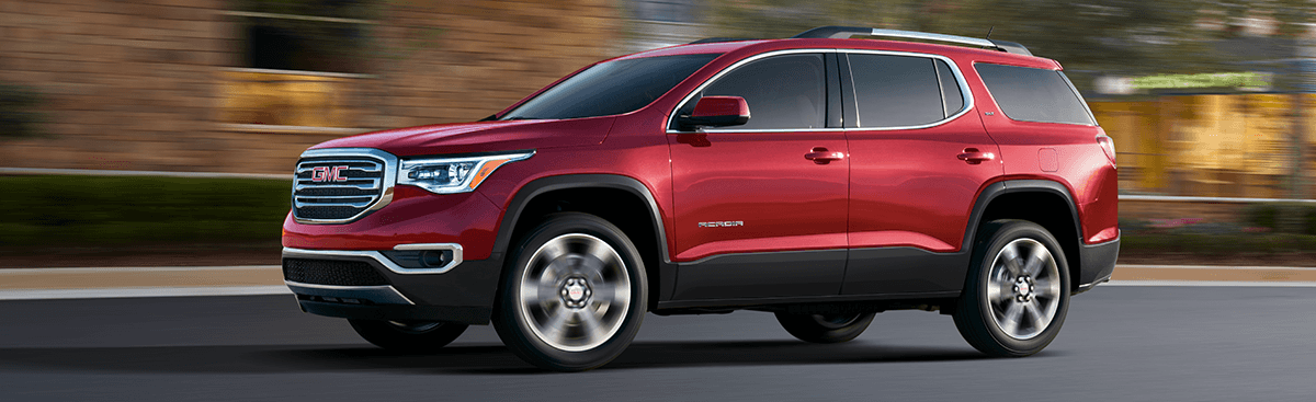 2018 GMC Acadia red exterior