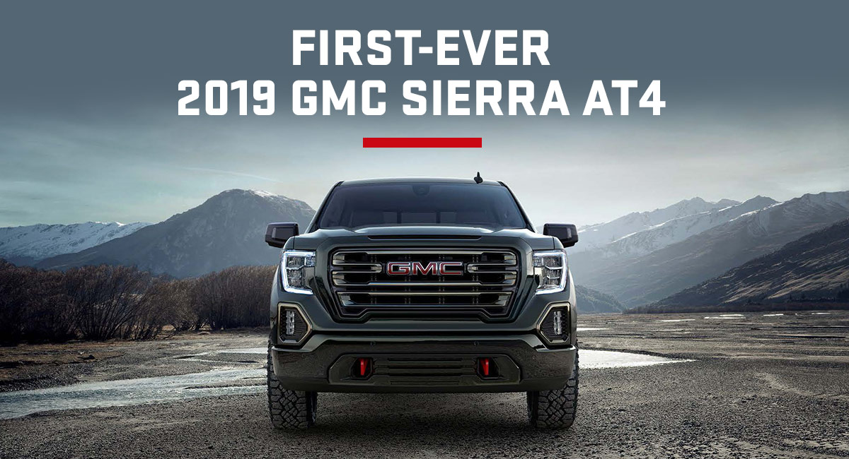 2019 GMC Sierra AT4 header